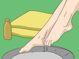 Вот что произойдет, если вы подержите ноги в уксусе. Делаю так каждый вечер
