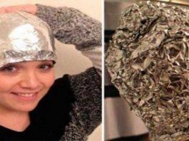 Невероятный трюк: Девушка положила алюминиевую фольгу после мытья волос на голову, и удивила лучших парикмахеров мира этим трюком