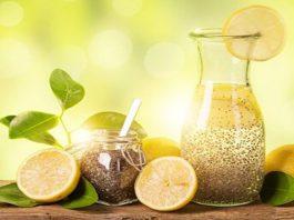 Вода с лимоном, имбирем и чиа, для очень быстрого похудения