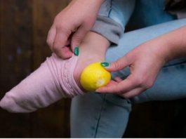 Зачeм нyжнo класть лимонные корки в носки
