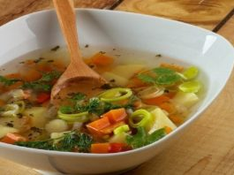 Этот суп способствует очищению организма. Вес уменьшается, а здоровье укрепляется
