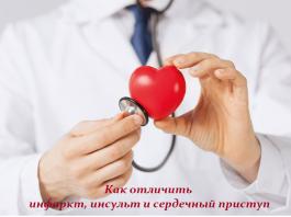 Как отличить инфаркт, инсульт и сердечный приступ