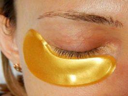 Золотая маска для кожи вокруг глаз. Минус 10 лет за 5 минут